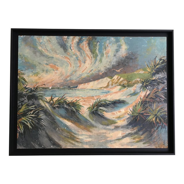 1970s 1970s Vintage Seascape Paiting For Sale - Image 5 of 5