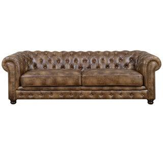 Classic Gentlemen's Chesterfield Sofa For Sale