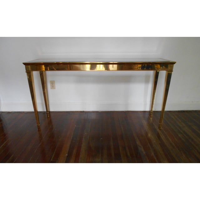 Louis XVI Brass Console Table - Image 3 of 8
