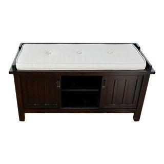 Modern Crate & Barrel Brighton Storage Bench For Sale