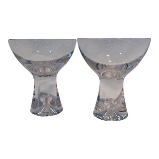 Iittala Tapio Hand Blown Crystal Cocktail Glasses Pair For Sale