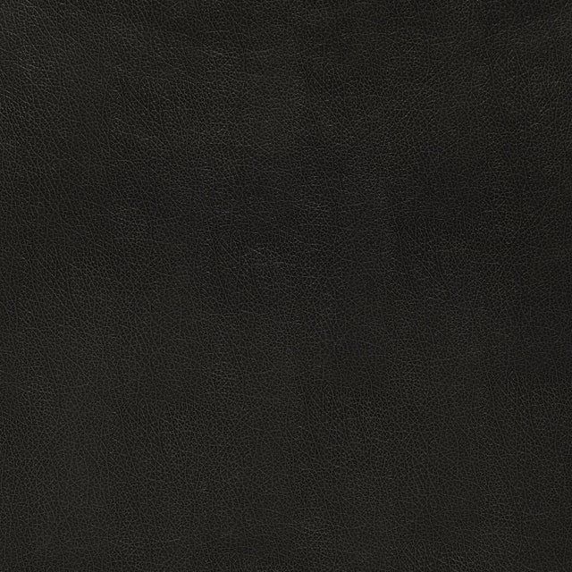 Sample - Schumacher Canyon Leather Wallpaper in Raven For Sale