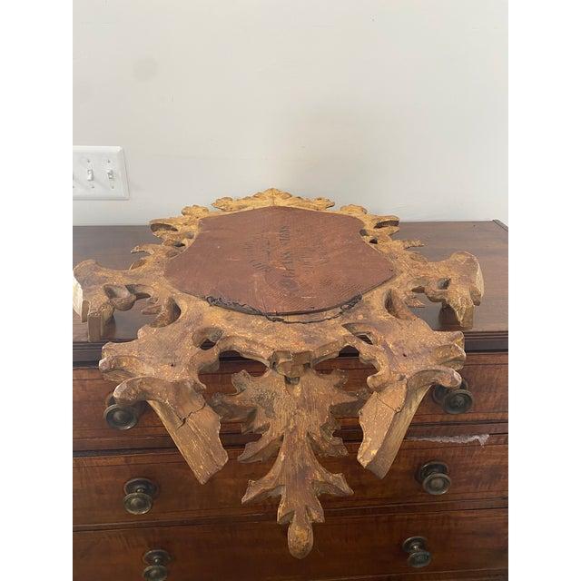 Antique 19th Century Italian Baroque Gilt Mirror For Sale - Image 11 of 13