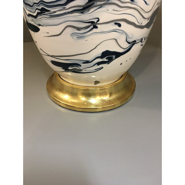 Contemporary Christopher Spitzmiller Ginger Jar in Teal and Grey Marble For Sale - Image 3 of 8