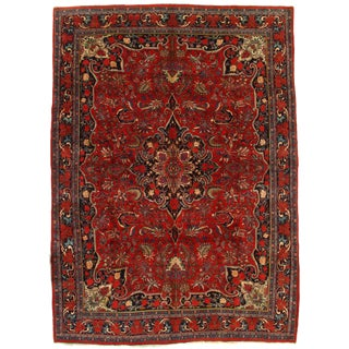 "Pasargad Ny Antique Persian Bidjar Hand-Knotted Rug - 9' X 12'5"" For Sale"