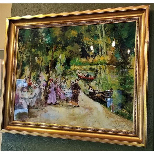 Remo Mario Trentini Reverse Oil on Glass For Sale - Image 10 of 13