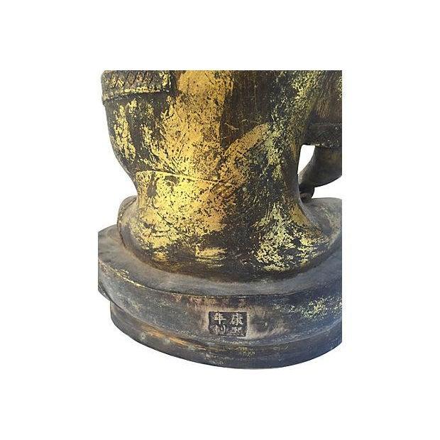 Gold Buddha Seated Statue - Image 3 of 6