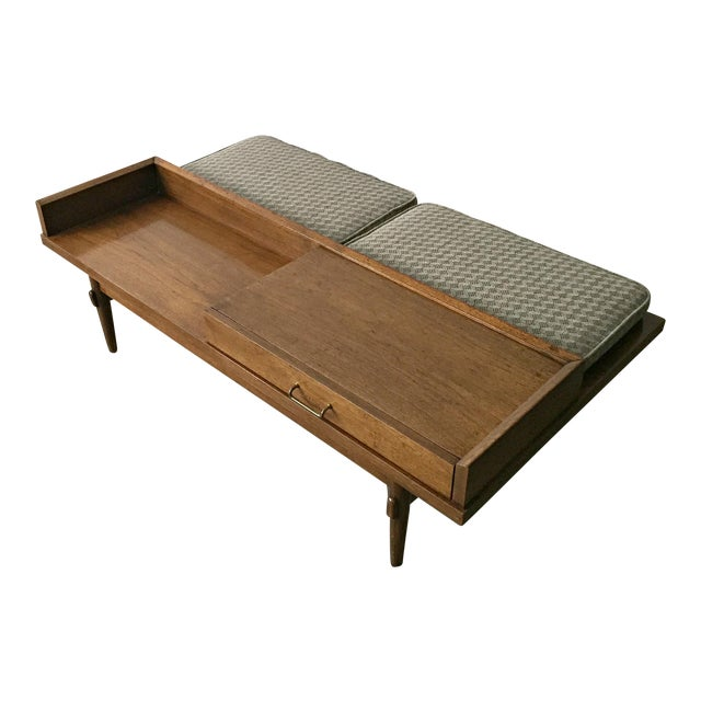Merton L. Gershun for American of Martinsville Mid-Century Modern Coffee Table Bench - Image 1 of 9