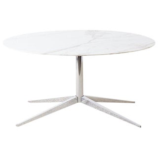 Florence Knoll Marble Dining Table With Star Base For Sale