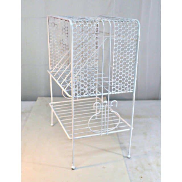 1960s Vintage Metal Music or Magazine Stand For Sale - Image 9 of 9