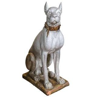 Terra Cotta Great Dane Dog Statue For Sale
