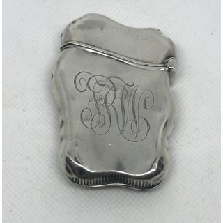 Monogrammed FRW Sterling Silver Match Safe Repousse Cherubs and Flowers Preview