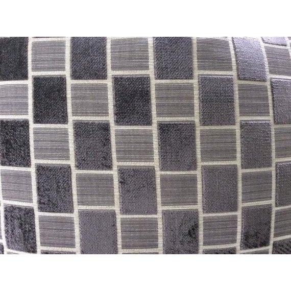 Pollack Pillows in Taupe & Gray Geometric Plush Raised Velvet - a Pair For Sale - Image 4 of 5