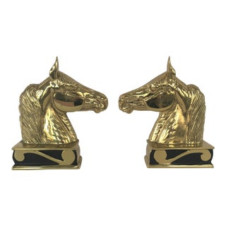 Vintage Va Metalcrafters Stallion Horse Bookends For Sale