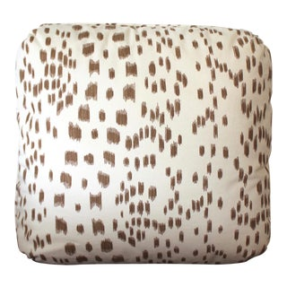 "Contemporary Brunschwig & Fils ""Les Touches"" Tan and Cream Cotton Pillow For Sale"