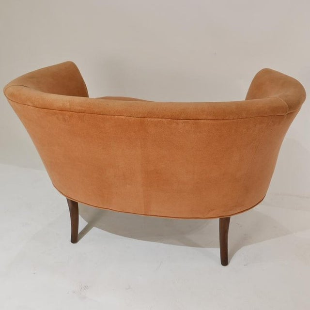Pair of Sculptural 1940s Curved Leg French Settees or Loveseats For Sale In New York - Image 6 of 11