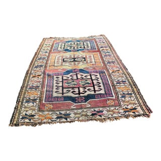 Antique Hand Tied Pakistani Wool Rug - 5′8″ × 8′10″ For Sale