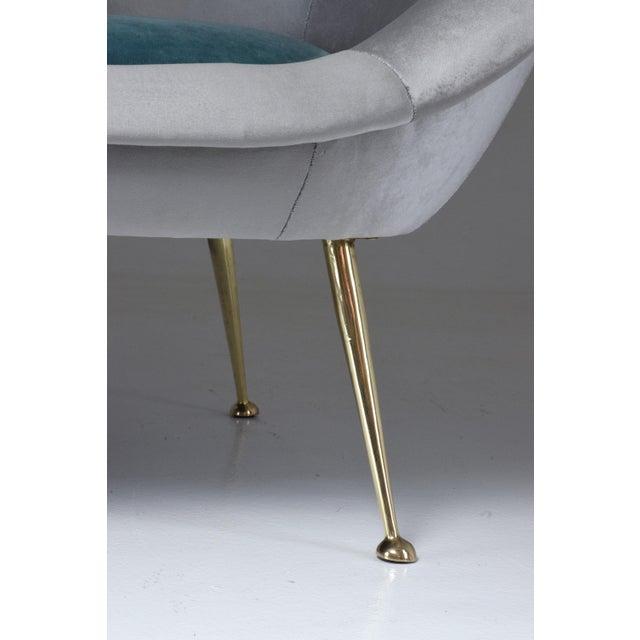 Italian Midcentury Velvet Sofa Set by ISA Bergamo, 1950s For Sale - Image 12 of 13