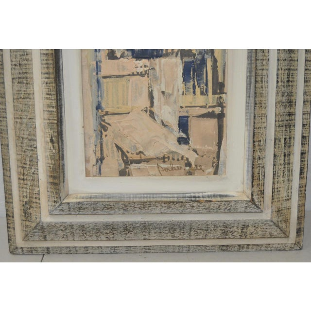Matching Pair of Parker Lee Mid Century Modern Abstract Gouache C.1950s For Sale - Image 4 of 6