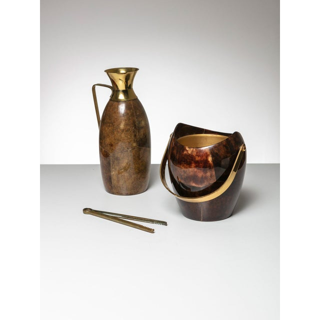 1960s Ice Bucket and Pitcher by Aldo Tura For Sale - Image 5 of 5