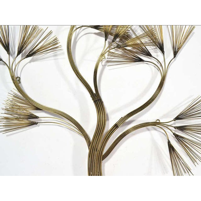 Curtis Jere Abstract Floral Wall Sculpture in Brass by Jere For Sale - Image 4 of 5