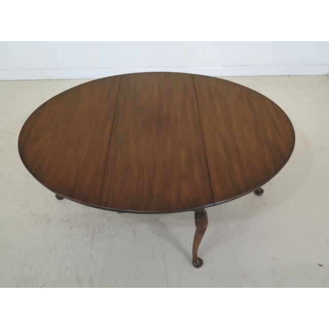 Mahogany 1960s Queen Anne Kittinger Colonial Williamsburg Mahogany Drop Leaf Table For Sale - Image 7 of 13