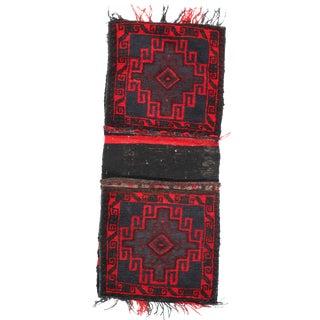 "Pasargad Ny Antique Persian Shiraz Saddlebag Rug - 1'4"" X 4'7"" For Sale"