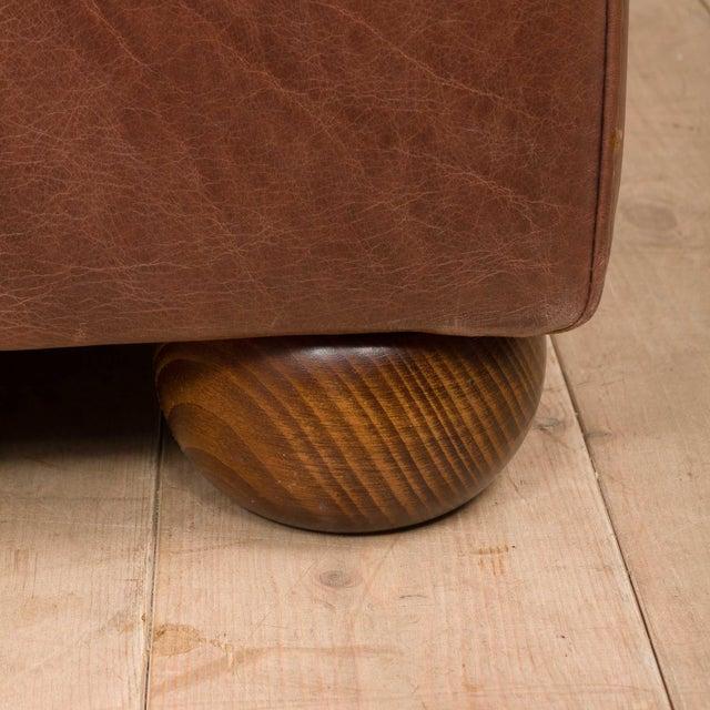 Mid-Century Baxter Buffalo Leather Italian Sofa For Sale - Image 10 of 12