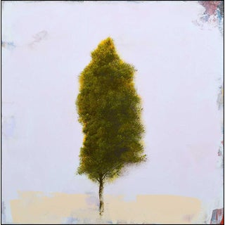 Robert Marchessault 'Fin D'Hiver' Contemporary Abstract Tree Mixed Media Painting For Sale