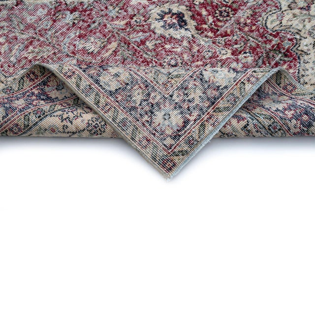 Traditional Vintage Turkish Distressed Rug For Sale - Image 3 of 4