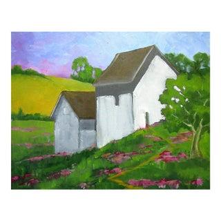 California Plein Air Landscape Farmhouse & Barn For Sale
