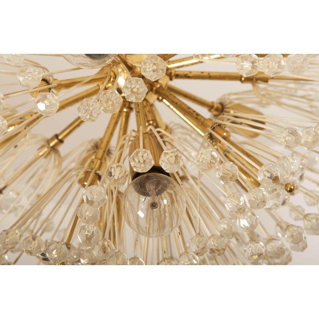 Impressive Emil Stejnar Brass and Glass Sputnik Snowball Chandelier For Sale - Image 4 of 9