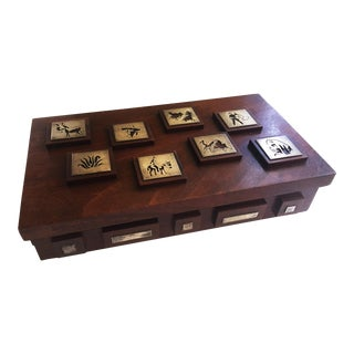 Taxco Rosewood and Silver Box For Sale