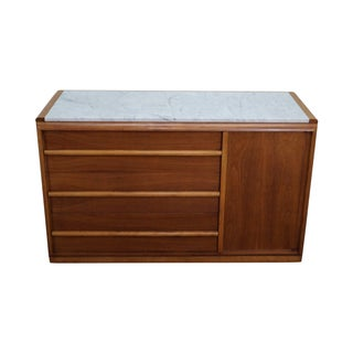 Widdicomb Robsjohn Gibbings Marble Top Sideboard For Sale