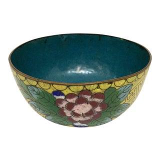 Antique Asian Cloisonné Footed Bowl For Sale