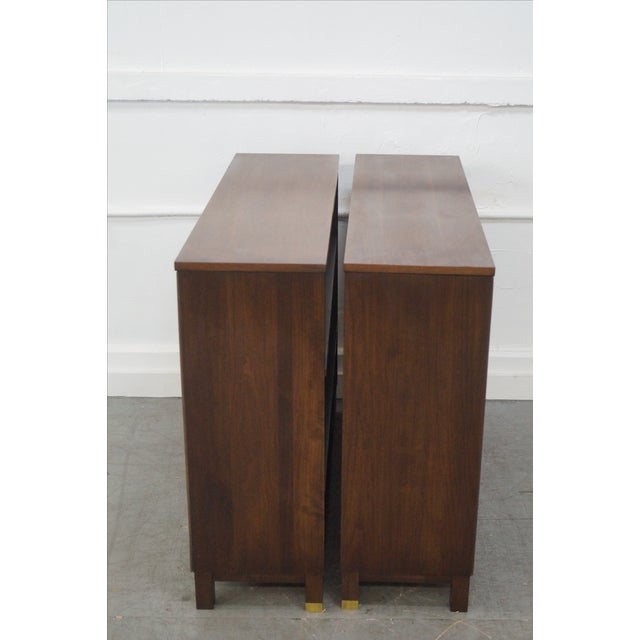 Mid-Century Modern Walnut Low Bookcases - Pair - Image 3 of 10