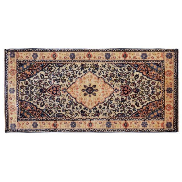 """Antique Persian Sarouk Farahan Rug - 2'1"""" x 4'2"""" - Image 1 of 2"""