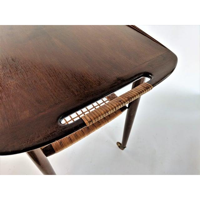 1960s Vintage Paoul Jensin for Selig Danish Modern Bar Cart For Sale - Image 10 of 13
