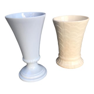 Vintage Ceramic Vases - A Pair For Sale