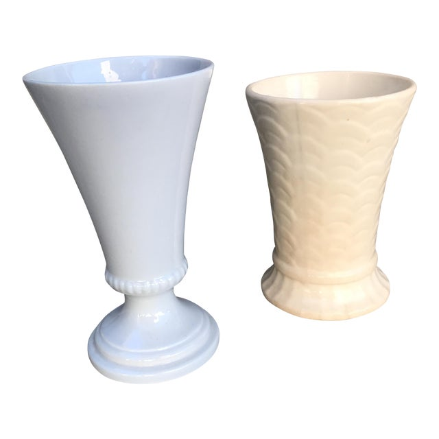 Vintage Ceramic Vases - A Pair - Image 1 of 8