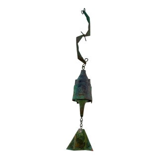 Modernist Paolo Soleri Bronze Brutalist Bell Wind Chime For Sale
