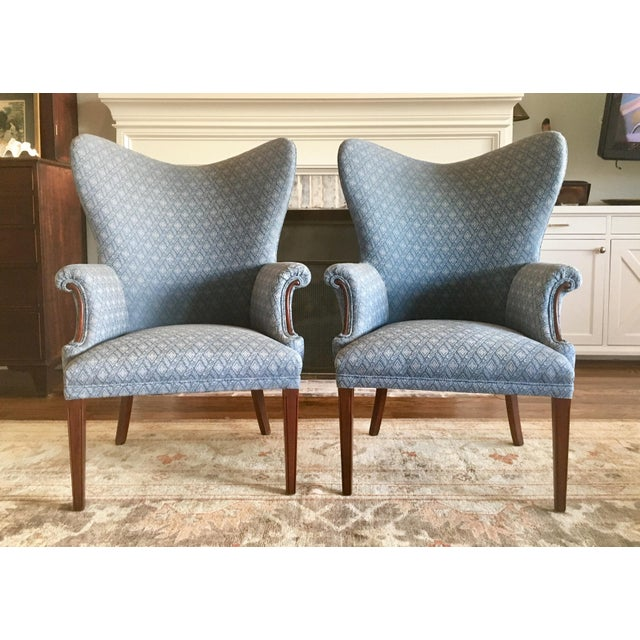 Wood Vintage Mid Century Butterfly Wingback Chairs - a Pair For Sale - Image 7 of 7