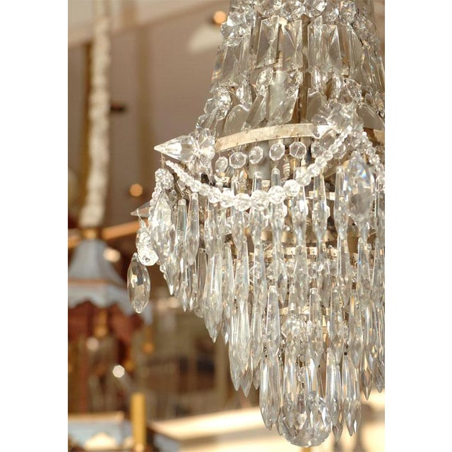 French 1900s Crystal Chandelier For Sale - Image 3 of 7
