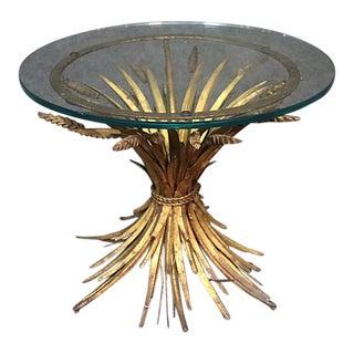 Italian Regency Style Glass Top Side Table For Sale