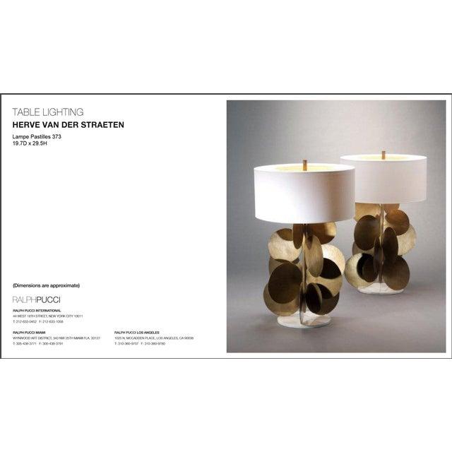 Ralph Pucci Lamp by Herve Van Der Straeten, Pastilles 373 Hammered Brass & Marble For Sale - Image 11 of 12
