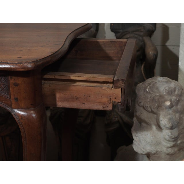 Mid 19th Century 19th Century French Carved Walnut Console For Sale - Image 5 of 8