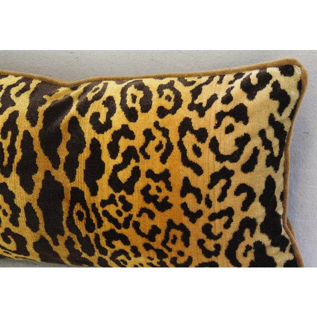 Scalamandre Leopardo Leopard & Mohair Feather/Down Pillow - Image 5 of 7