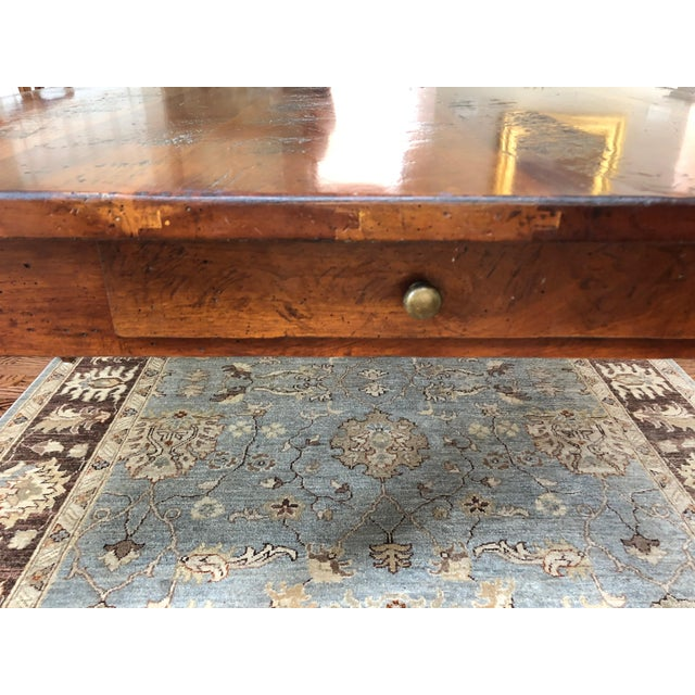 Wright Table Company Classic Distressed Hard Wood Farm Table For Sale - Image 10 of 13