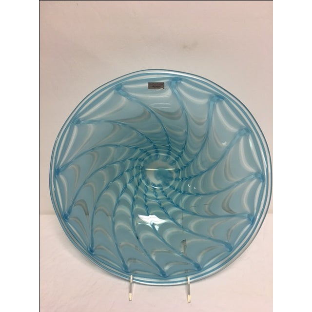 Waterford Evolution Aqua Art Glass Bowl - Image 4 of 8