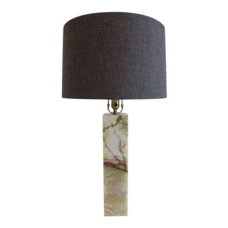 Walter Von Nessen Marble Table Lamp